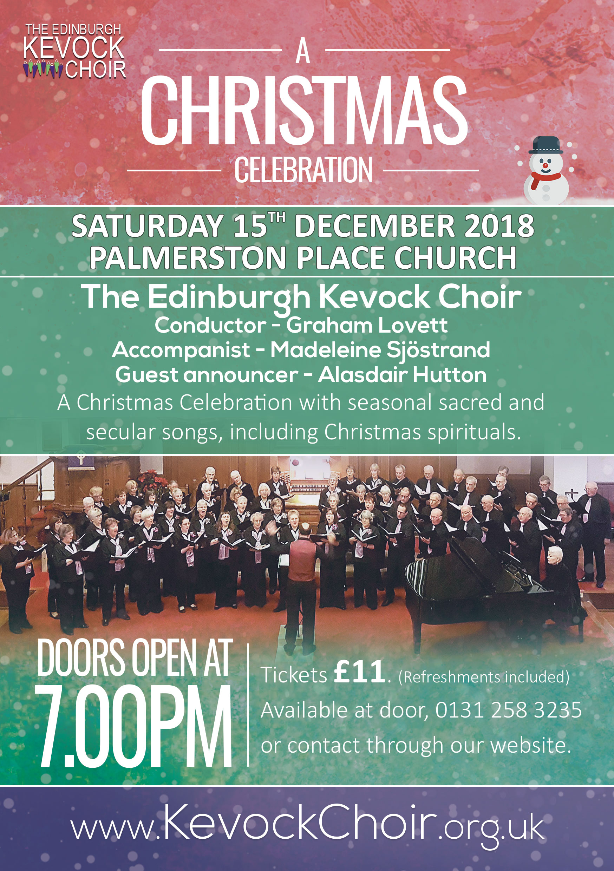 Palmerston Place Church 15th December - The Edinburgh Kevock Choir